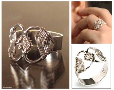 Fine Silver Heart Ring