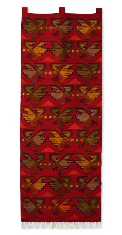 Wool tapestry, 'Flight of the Condor' - Andean Wool Tapestry