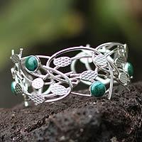 Chrysocolla cuff bracelet,