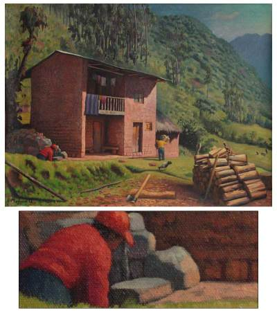 'Firewood' - Realist Painting