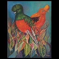 'Beautiful Birds' (2010) - Peruvian Oil Painting