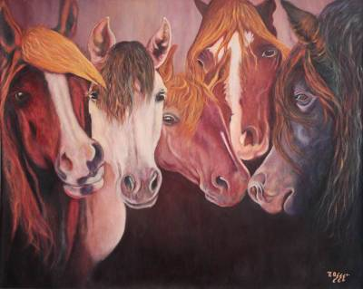'The Horse' (2010) - Peruvian Oil Painting