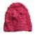 100% alpaca hat, 'Cherry Blossoms' - 100% alpaca hat (image 2a) thumbail