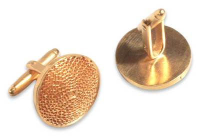 21k Gold Plated Silver Filigree Cufflinks