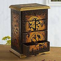 Cedar jewelry box, 'Royal Legacy' - Cedar jewelry box