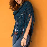 100% alpaca shawl, 'Andean Empress' - Alpaca Shawl Hand Crocheted in Peru