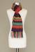 100% alpaca scarf, 'Andean Twilight' - Alpaca Wool Striped Scarf from Peru (image 2c) thumbail