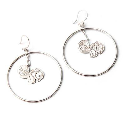 Handcrafted Fine Silver Dangle Earrings
