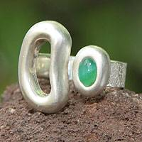 Opal wrap ring, 'New Life' - Opal wrap ring