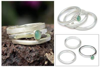 Opal cocktail rings (Set of 3)