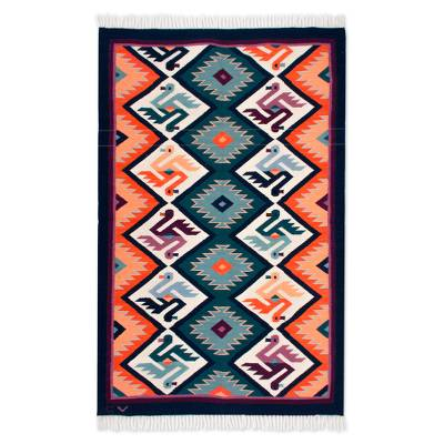 Hand Made Collectible Wool Area Rug (4x6)