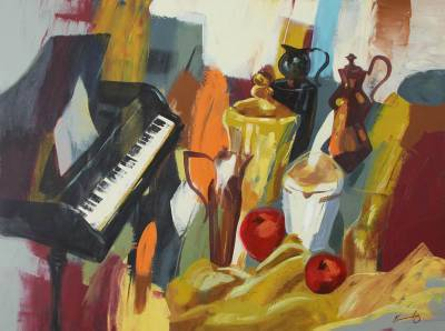 'Prosperity' - Cubist Still Life Painting