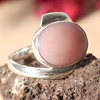 Opal cocktail ring, 'Sweet Rose' (Peru)