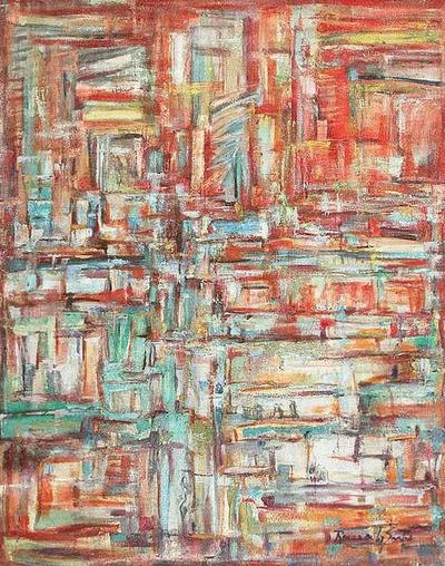 Interior Chaos Original Painting Peru Art