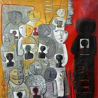 'Together' (2010) - A Family United Peru Fine Art Oil Painting (2010)