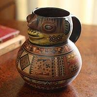 Aged Cuzco vase, 'Grandfather Andes' - Aged Cuzco vase