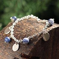 Sodalite charm bracelet,