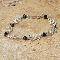 Hematite link bracelet,
