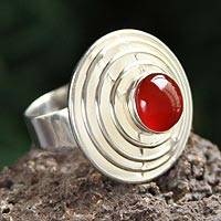 Agate cocktail ring,