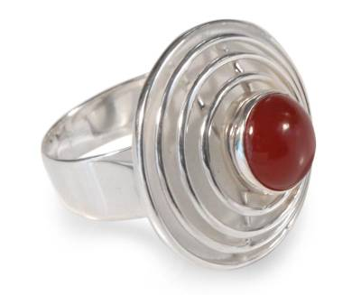 Agate cocktail ring