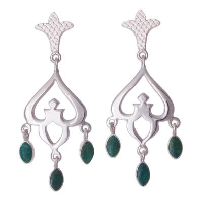 Chrysocolla chandelier earrings