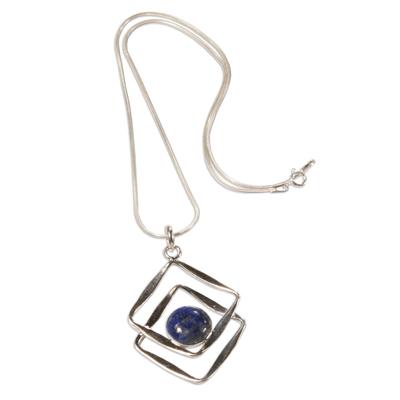 Sterling Silver Pendant Lapis Lazuli Necklace