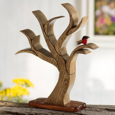 Wood sculpture, 'Tree in Winter' - Wood sculpture