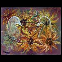 'Dove Spirit' - Expressionist Original Painting Signed
