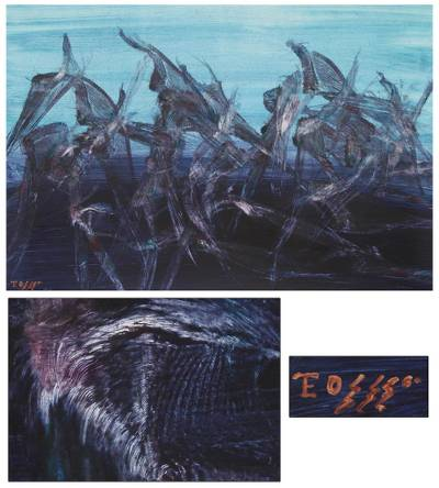 'Evolution of Flight' (2011) - Expressionist Painting from Peru (2011)