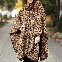 Alpaca blend ruana cloak,