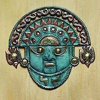 Bronze and copper mask, 'Ai Apaec Deity' - Bronze and copper mask