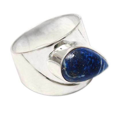 Peru 925 Silver Ring with Lapis Lazuli