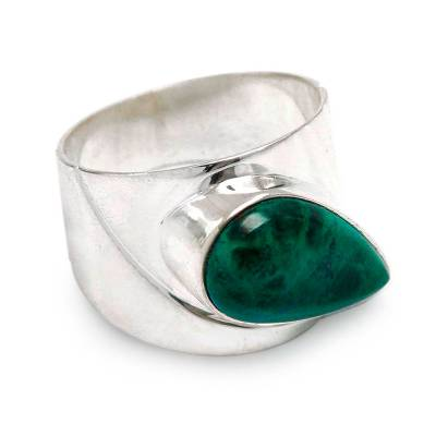 Fair Trade Peruvian Sterling Silver and Chrysocolla Ring
