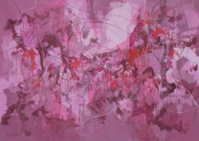 'Memory of Violet' - Original Abstract Painting