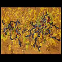'Yellow Melody II' (2011) - Original Abstract Painting (2011)