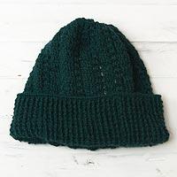 100% alpaca hat, 'Trujillo Teal' - 100% alpaca hat