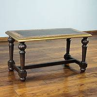 Wood rectangular accent table,