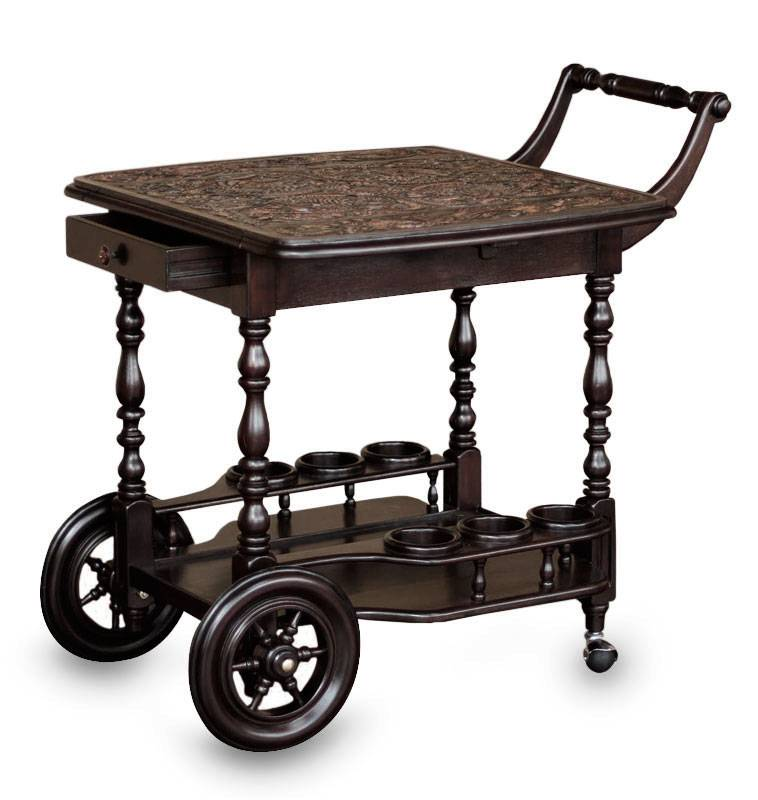 Leather and cedar bar cart, 'A Movable Drink' - beautiful addition to any home!