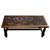 Mohena wood and leather coffee table, 'Andean Birds' - Mohena wood and leather coffee table (image 2b) thumbail
