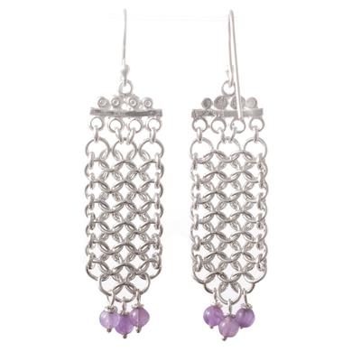 Amethyst waterfall earrings