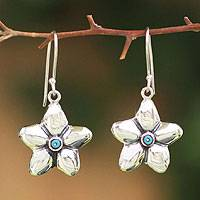 Sterling silver dangle earrings, 'Morning Star' - Sterling silver dangle earrings