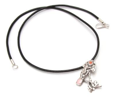 Jasper and rhodonite pendant necklace