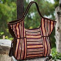 Wool and leather accent hobo bag, 'Cuzco Legacy'