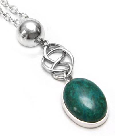 Hand Crafted Chrysocolla Pendant Necklace