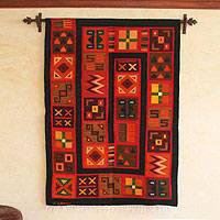Wool tapestry, 'Nazca Anthology' - Handmade Wool Tapestry