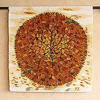 Wool tapestry, 'Amazon Glory' - Hand Made Wool Tapestry