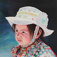 'Beautiful Innocence' - People and Portraits Realist Painting
