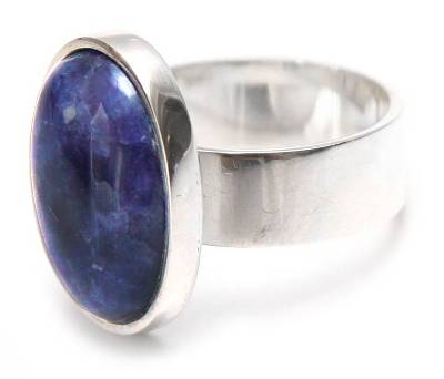 Handmade Jewelry Sterling Silver Cocktail Sodalite Ring
