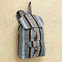 Alpaca blend backpack Winter Skies Peru