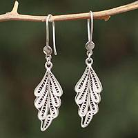 Sterling silver filigree earrings, 'Forest Magic' - Collectible Leaf Sterling Silver Filigree Earrings